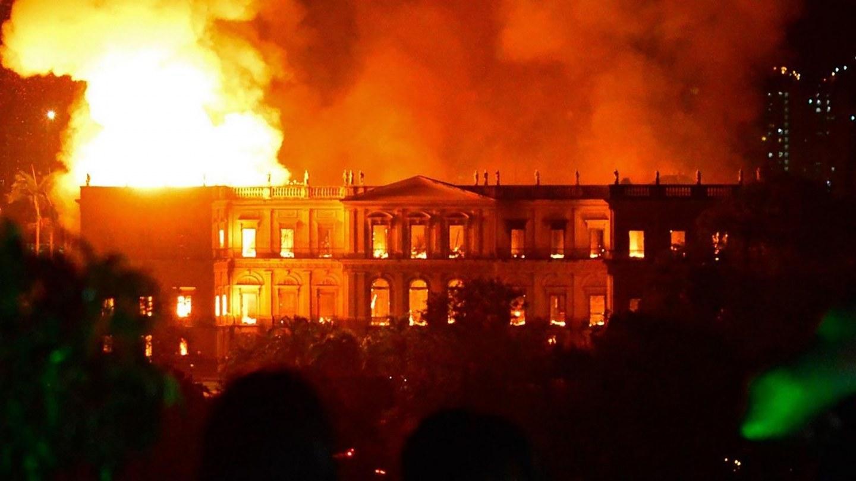 © Incendie du Musée National de Rio de Janeiro